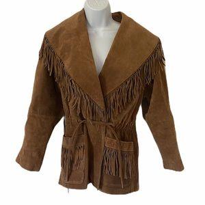 Vintage! G4000 Suede Leather Fringe Boho Jacket